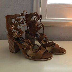 Dolce Vita lace up heeled sandals